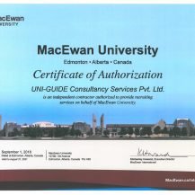 Agent Certificate UNI-GUIDE Consultancy Services(MACCAWEN