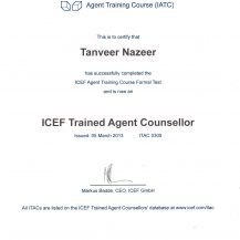 ICEF Agent Certificate