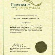 UFV Certificate